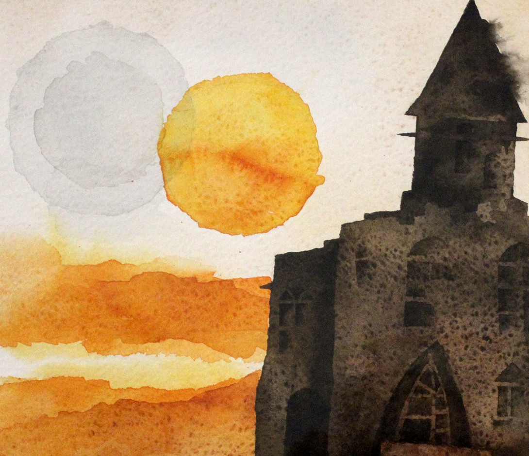 Art painting - Old Church